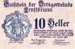 Imaginea #1 a 10 Heller 1920 - Ernstbrunn