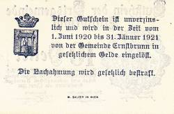 Imaginea #2 a 10 Heller 1920 - Ernstbrunn
