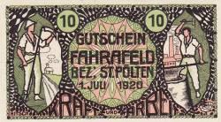 Imaginea #1 a 10 Heller 1920 - Fahrafeld (district în Sankt Pölten)