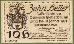 Imaginea #2 a 10 Heller 1920 - Fieberbrunn