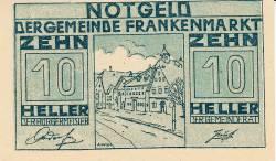 Imaginea #1 a 10 Heller 1920 - Frankenmarkt