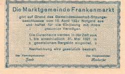 Imaginea #2 a 10 Heller 1920 - Frankenmarkt