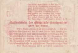Imaginea #2 a 10 Heller 1920 - Gneixendorf