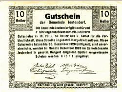 10 Heller 1920 - Jeutendorf