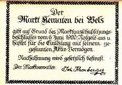 Image #2 of 10 Heller 1920 - Kematen bei Wels