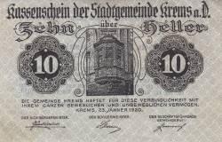 10 Heller 1920 - Krems