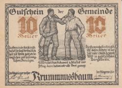 10 Heller 1920 - Krummnußbaum