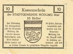 Image #2 of 10 Heller 1920 -  Mödling