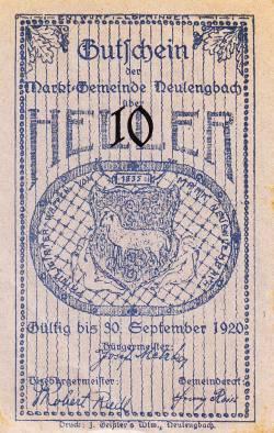 Imaginea #1 a 10 Heller 1920 - Neulengbach
