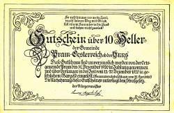 Imaginea #2 a 10 Heller 1920 - Pram