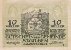 Image #1 of 10 Heller 1920 - Sankt Gilgen