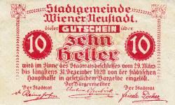 Image #2 of 10 Heller 1920 - Wiener Neustadt