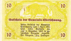 Imaginea #2 a 10 Heller 1920 - Eberschwang