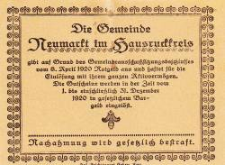 Image #2 of 10 Heller 1920 - Neumarkt im Hausruckkreis