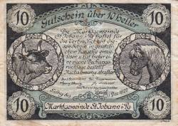 Imaginea #2 a 10 Heller 1920 - Sankt Johann im Pongau