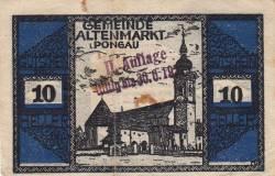 Imaginea #1 a 10 Heller ND - Altenmarkt im Pongau (A II-a emisiune - II. Auflage)