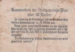 Imaginea #2 a 10 Heller 1920 - Viena