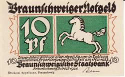 Image #1 of 10 Pfennig 1921 - Braunschweig