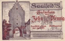 Image #1 of 10 Pfennig 1921 - Saalfeld/Saale