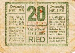 Imaginea #1 a 20 Heller 1920 - Ried