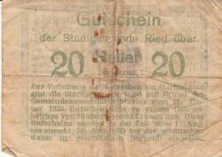 Imaginea #2 a 20 Heller 1920 - Ried