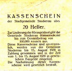 Image #2 of 20 Heller 1919 - Stockerau