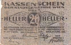Imaginea #1 a 20 Heller 1919 - Viena