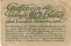 Imaginea #2 a 20 Heller 1919 -  Steiermark
