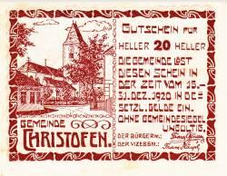 Imaginea #1 a 20 Heller 1920 - Christofen