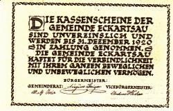 Imaginea #2 a 20 Heller 1920 - Eckartsau