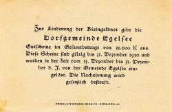 20 Heller 1920 - Egelsee