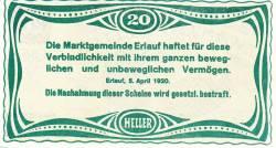 Imaginea #2 a 20 Heller 1920 - Erlauf