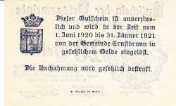 Imaginea #2 a 20 Heller 1920 - Ernstbrunn