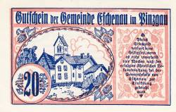 Imaginea #1 a 20 Heller 1920 - Eschenau im Pinzgau