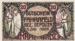 Imaginea #1 a 20 Heller 1920 - Fahrafeld (district în Sankt Pölten)