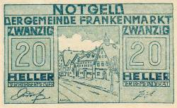 Imaginea #1 a 20 Heller 1920 - Frankenmarkt
