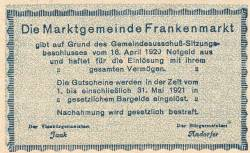 Imaginea #2 a 20 Heller 1920 - Frankenmarkt