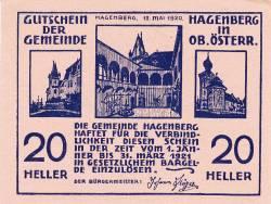 Imaginea #1 a 20 Heller 1920 - Hagenberg