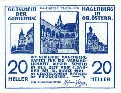 Imaginea #1 a 20 Heller 1920 - Hagenberg (A II-a emisune - 2. Auflage)