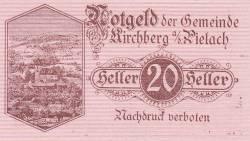 Imaginea #1 a 20 Heller 1920 - Kirchberg an der Pielach