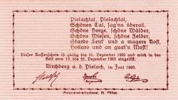 Imaginea #2 a 20 Heller 1920 - Kirchberg an der Pielach