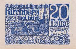 Imaginea #1 a 20 Heller 1920 - Kirchberg bei Linz