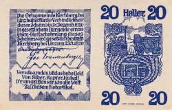 Imaginea #2 a 20 Heller 1920 - Kirchberg bei Linz