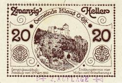 20 Heller 1920 - Klaus (Oberösterreich - Austria Superioară)