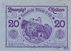 Imaginea #1 a 20 Heller 1920 - Klaus (Oberösterreich - Austria Superioară)