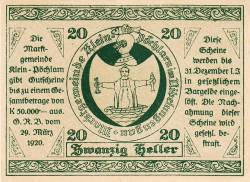 Imaginea #1 a 20 Heller 1920 - Klein-Pöchlarn