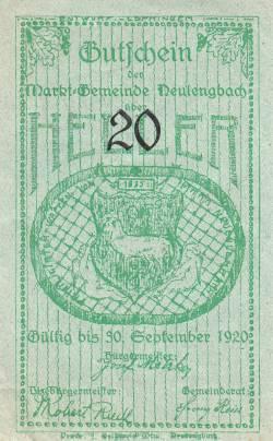 Imaginea #1 a 50 Heller 1920 - Neulengbach