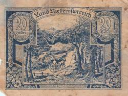 20 Heller 1920 - Lower Austria - Niederösterreich (Second Issue - II. Auflage)
