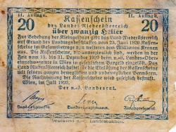 Image #2 of 20 Heller 1920 - Lower Austria - Niederösterreich (Second Issue - II. Auflage)