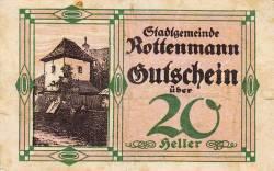 Imaginea #1 a 20 Heller 1920 - Rottenmann